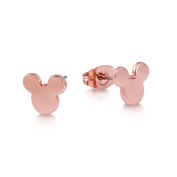 Disney Couture Rose Gold-Plated Mickey Mouse Head Stud Earrings