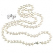 StunningBoutique FIVE IN ONE White 50 inches 125cm 8-9mm Freshwater Pearl Long Rope Necklace with Sterling Silver Clasp presented in a Gift Box