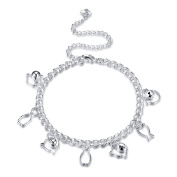 Women's Beach Cat and Fish Animal Anklet Jewellery Chain Multi Beaded Anklet Silver