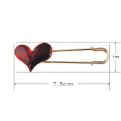High-end Fashion Drip Big Heart-shaped Brooch Pin and Brooch Corsage Accessories for Women Scarves Shawls and Sweaters