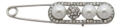 Brooch Boutique Silver Plated Crystal and Pearl Ball Pashmina Pin Kilt Pin Brooch
