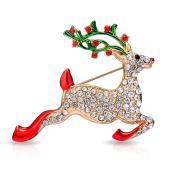Reindeer Christmas Brooch in Gift Box