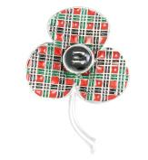 Remembrance Poppy - Charity Donation Gift - Enamelled Tartan Poppy Brooch