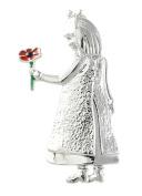 Remembrance Poppy - Charity Donation Gift - Enamelled Little Girl Brooch