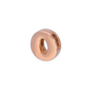Rose Gold Dipped Sterling Silver Alphabet Letter Threader Bead Charm A - Z