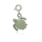 Aquamarine Jewellery Sterling Silver Turtle Charm Gift Boxed