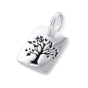 Tree Of Life Split Ring Charm in 925 Stamped Sterling Silver