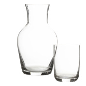 Clear Glassware Carafe And Tumbler Bedside Nightstand Desk Water Drinking Set