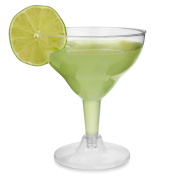 Disposable Margarita Glasses 200ml - Set Of 12 - Clear Plastic Cocktail Glass