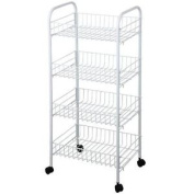 Kitchen Trolley 4 Tier Storage Fruit Vegetable Food Storage New By Home