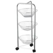 Three Tier Kitchen Trolley Fruit Basket Vegetable Storage Stand By Home