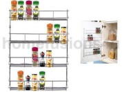 4 Tier Chrome Spice Rack Back Of Door Spice Jar Packet Holder Storage Kitchen