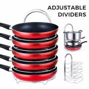 Lifewit Pan Pot Organiser Rack Adjustable 5-tier Stainless Steel Cookware Holder