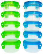 Elacra Baby Food Storage Containers Bpa-free Freezer Safe Microwavable Airtight