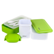 Insulated Lunch Box Set. Lunch Bag For Adults With Divided Plates, 2 Containers,