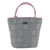 Navigate Beau & Elliot Outline Lunch Tote Bag Slate Grey Insulated Cool Picnic