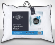 The Fine Bedding Company, Spundown Medium Support, Pillow, Luxury Microfibre Pillow, Non Allergenic Bedding, Fully Machine Washable, Extra Large Size 91cm x 48cm