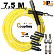 7.5m Hose Inc Pcl Type Quick Release Fittings + 4 Pcl Couplings, 4 Pcl Tails 03