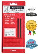 2 Reversibel Hobel Messer 82mm X 5.5mm Hss Bosch Black & Decker Dewalt Neu