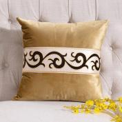 QZz Flannel Solid Colour Simple Pillow Jacquard Lace European Pillow Sofa Cushions Office Chair Cushions Bedside Cushions