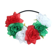 Zhuhaitf Casual Women Vacation Seaside Flower Wreath Accessories Hair Clip Special Flowers Headdress Colourful