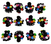 Banithani 12 Pcs Durable Plastic Hair Clutcher Claw Hair Accessory Gift For Her