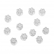 Imixlot Women & Girl 12pcs Wedding Bridal Six Bead Crystal Swirl Hair Twists Coils Spirals Hair Pin Clip