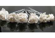 TOOKY 10PCSX Small Rose Flower Hair Pins Wedding Bridal Flowers Accessory Bridesmaids
