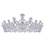 HerZii Crystal Bride Hair Accessory Wedding Tiaras And Crown For Rhinestone Pageant Crowns Head Jewellery Hair Ornament