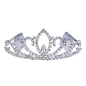 Clearine Women's Elegant Crystal Bridal Romantic Love Heart Inspired Royal Crown Tiara With Combs Clear