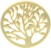 Milano Coin Disc For Milano Keeper Pendant Holder Locket Carrier Leafy Tree