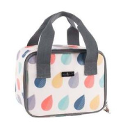 Navigate Beau & Elliot Raindrops Personal Lunch Tote Cool Bag Insulated Picnic