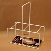 Supahome 2 Milk Bottle Holder Tidy Crate Rack Carrier Doorstep Store Basket