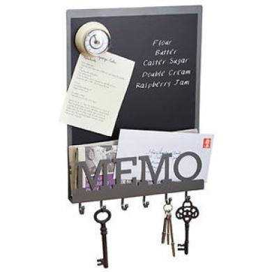 Living Nostalgia Memo Board With Hooks