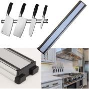 Wall Mount Knife Rack Magnetic Utensil Holder 36 Cm Stainless Steel Professional