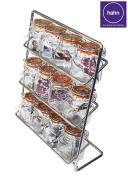 Hahn 12 Jar Chrome Spice Rack With Kilner Jars Included