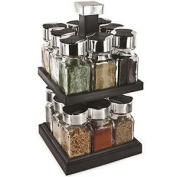 Rotating Spice Rack - 16 Glass Pots