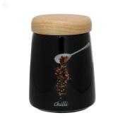 Dema Photographic Chilli Herb Pot, Black