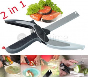 Smart Cutter 2-in-1 Food Chopper Kitchen Knife Vegetable Cutting Board Scissors