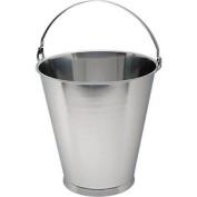 Genware Nev-13515 Swedish Skirted Bucket, Stainless Steel, 15 L Graduate