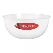 Thumbs Up Beaufort Kitchen Baking Cooking Plastic Mixing Bowl, Clear - 22cm