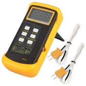 Signstek 6802 Ii Dual Channel Digital Thermometer With 2 K-type Thermocouple For