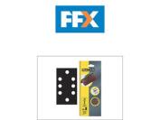 Flexovit Flv26341 1/3 Sanding Sheets 93 X 230 Perforated Fine 120g X 10