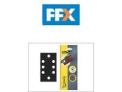 Flexovit 63642526344 1/3 Sanding Sheets 93 X 185 Quick Release Medium 80g X 6