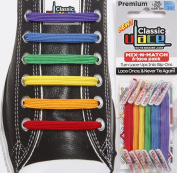 U-Lace Shoe Laces multi-coloured Rainbow Violet,bleu,vert,jaune,orange,rouge