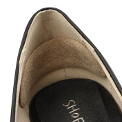footinsole Massage Heel Liner Gel Suede Pads (1 Pair) to Prevent New Shoes Blisters