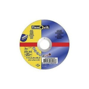 Saint Gobain Flexovit Standard Steel Cutting Discs - 115mm Flat Comfortable A...
