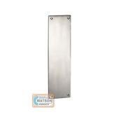 Saa Push Plate Satin Aluminium Metal Door Finger Plate Square Corner Drilled Csk