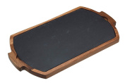 Master Class Artesà Duo Wooden Serving Tray / Slate Serving Board, 39 X 22 Cm X