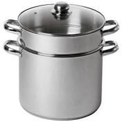 Baumalu - 342639 - Stainless Steel Couscouspot 24 Cm 9 Litre